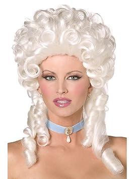 Patrones de traje de neopreno para mujer diseño barroco Marie Antoinette Fancy peluca de pelo rizado