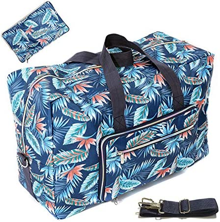 22″ Foldable Large Travel Duffel Duffle Bag Overnight Carryon Weekend Bag Shoulder Bag Water Rresistant 8 Color Choices