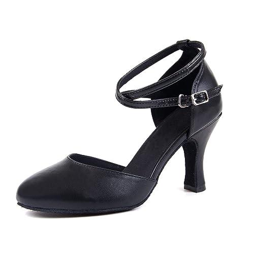 Danse Salsa Latine Syrads Chaussures Femmes De Pour jLq345AR