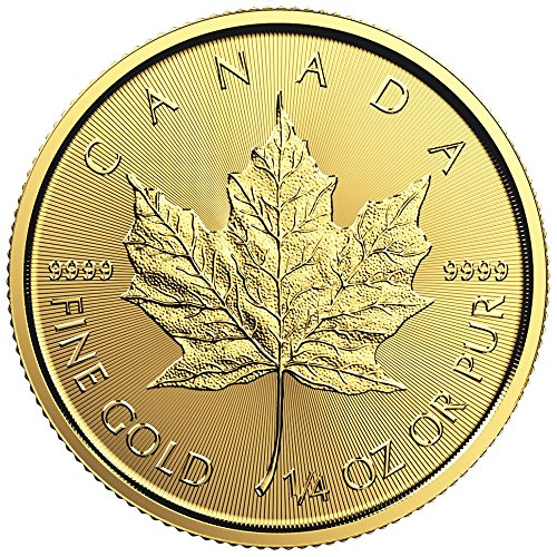 2016 Gold Canadian Maple Leaf (1/4 oz.)