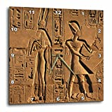 3dRose Egypt, Luxor, Stone Reliefs In Amun Temple Enclosure At Temples – Wall Clock, 10 by 10-Inch (dpp_208712_1) For Sale