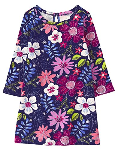 2t Girl Gymboree - Gymboree Girls' Toddler Printed Shift Dress, Floral 2T