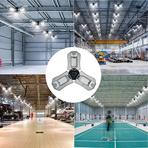 Garage Lights, 80W E26 8000 Lumens LED Garage Light, Deformable Garage Ceiling Lighting, Work Light for Garage, Barn, Workshop, LED High Bay Light Bulb. by Lead-Go (Image #6)