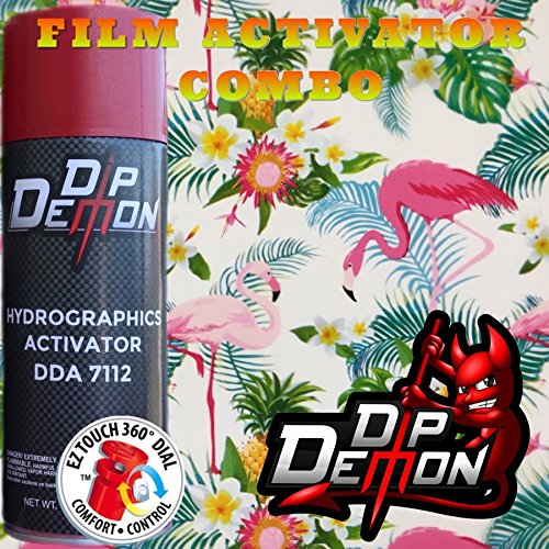 Combo Kit Pink Flamingos Birds Animals Hydrographic Water Transfer Film Activator Combo Kit Hydro Dipping Dip Demon