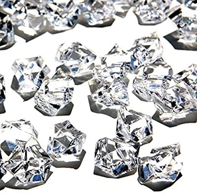 Ice Rock Crystals Treasure Gems for Table Scatters, Vase Fillers, Event, Wedding, Birthday Decoration Favor, Arts & Crafts (1 lb. Bag) by Homeneeds0153;