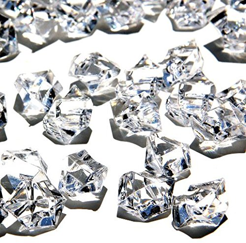 Ice Rock Crystals Treasure Gems for Table Scatters, Vase Fillers, Event, Wedding, Birthday Decoration Favor, Arts & Crafts (1 lb. Bag) by Homeneeds Inc (CRYSTAL CLEAR)