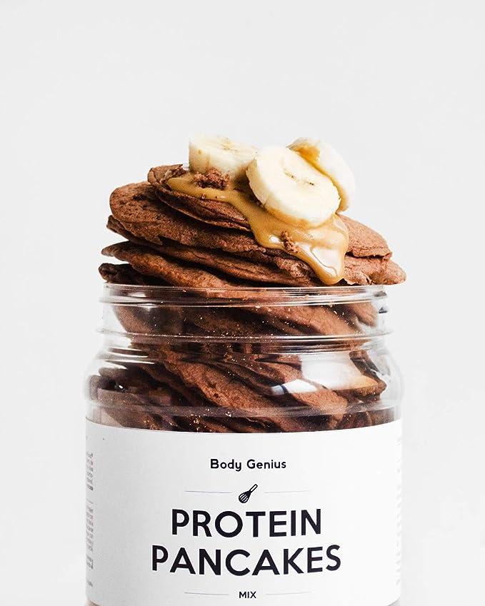 BODY GENIUS Pack Desayuno Proteico (Chocolate) Crema de Cacahuete y Cacao, Tortitas Proteicas y Protein Crunch. Alto en Proteína, Bajo en Hidratos, ...