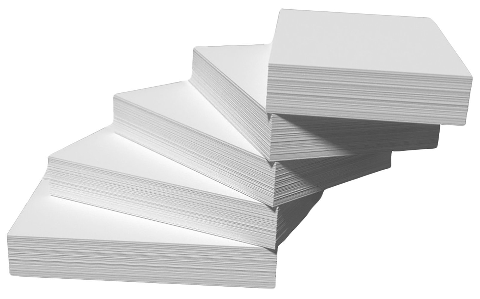 DEBRADALE DESIGNS - Blank Unruled Index Cards - 4 x 6 Inches - White - 500 Cards - 5 Packages of 100 - Standard 110# Index Card Stock - 199 GSM - .009 Thick