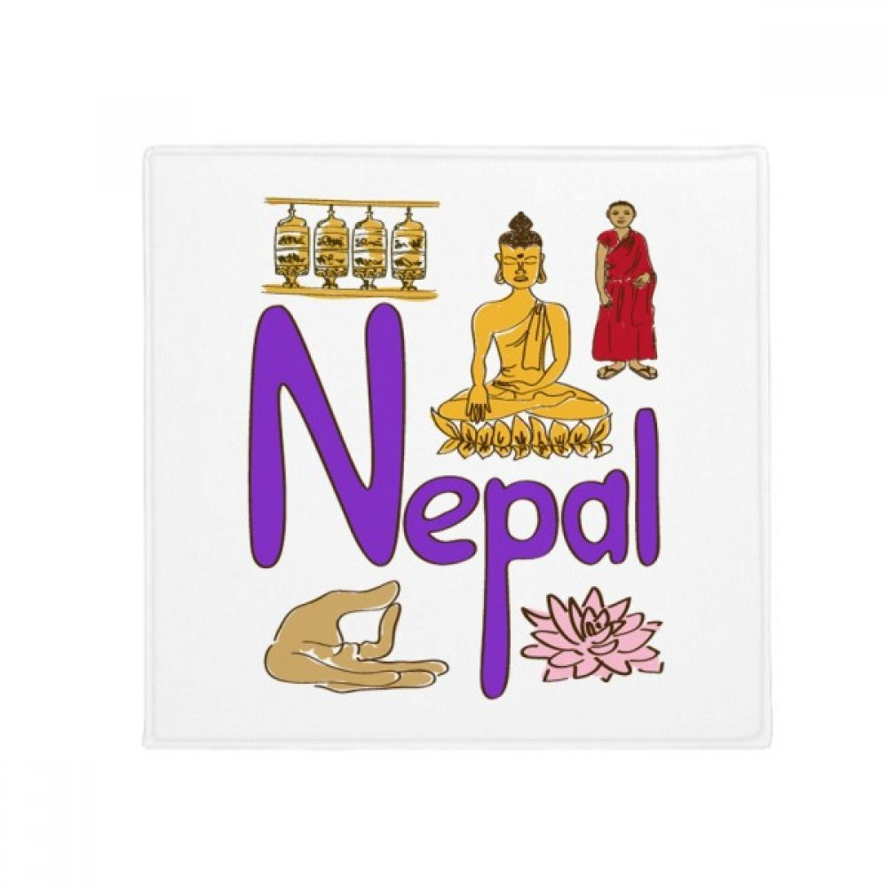 DIYthinker Nepal National Symbol Landmark Pattern Anti-Slip Floor Pet Mat Square Home Kitchen Door 80Cm Gift