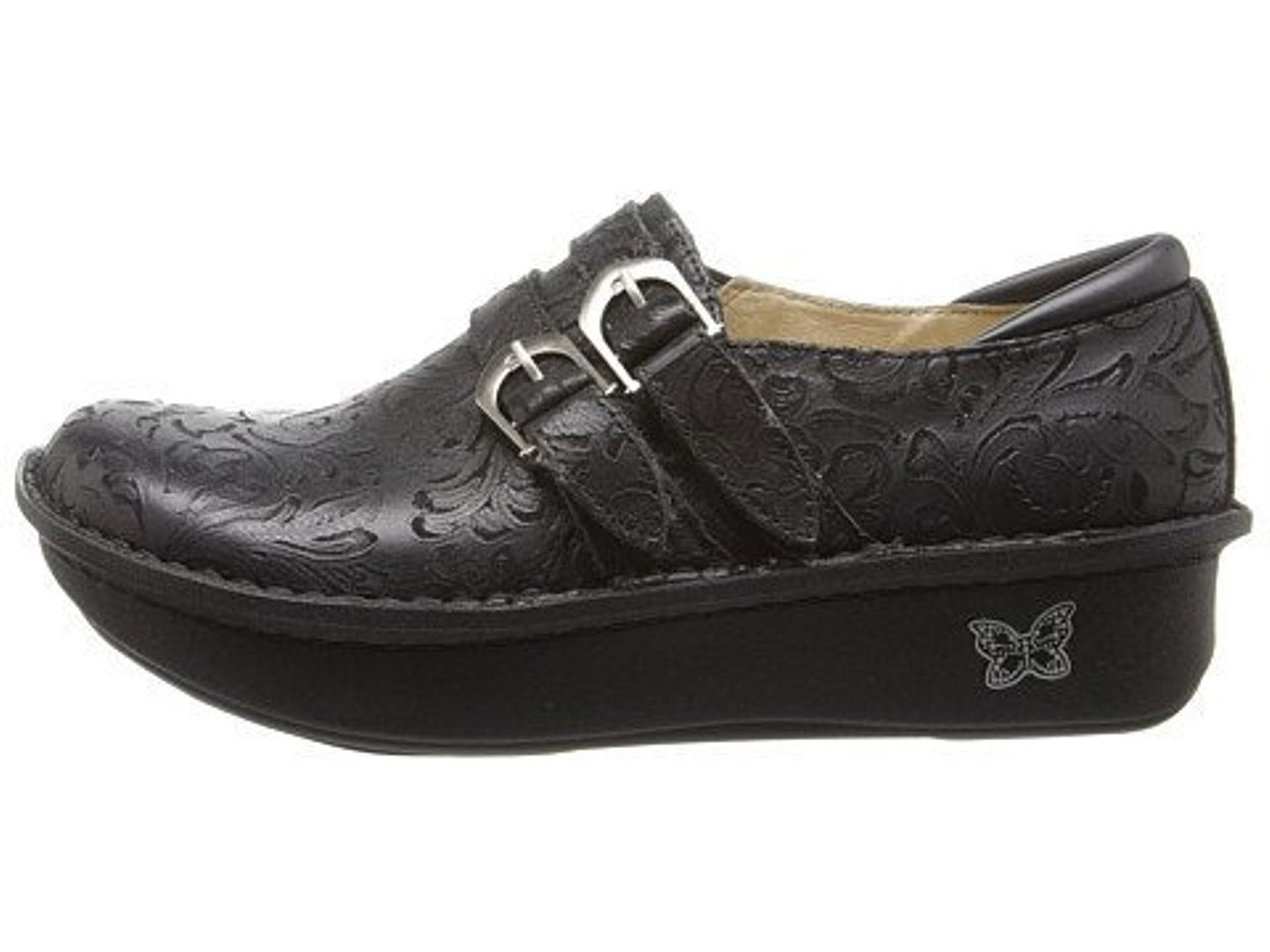 Alegria Alli Black Embossed Paisley (Black,US9-9.5)