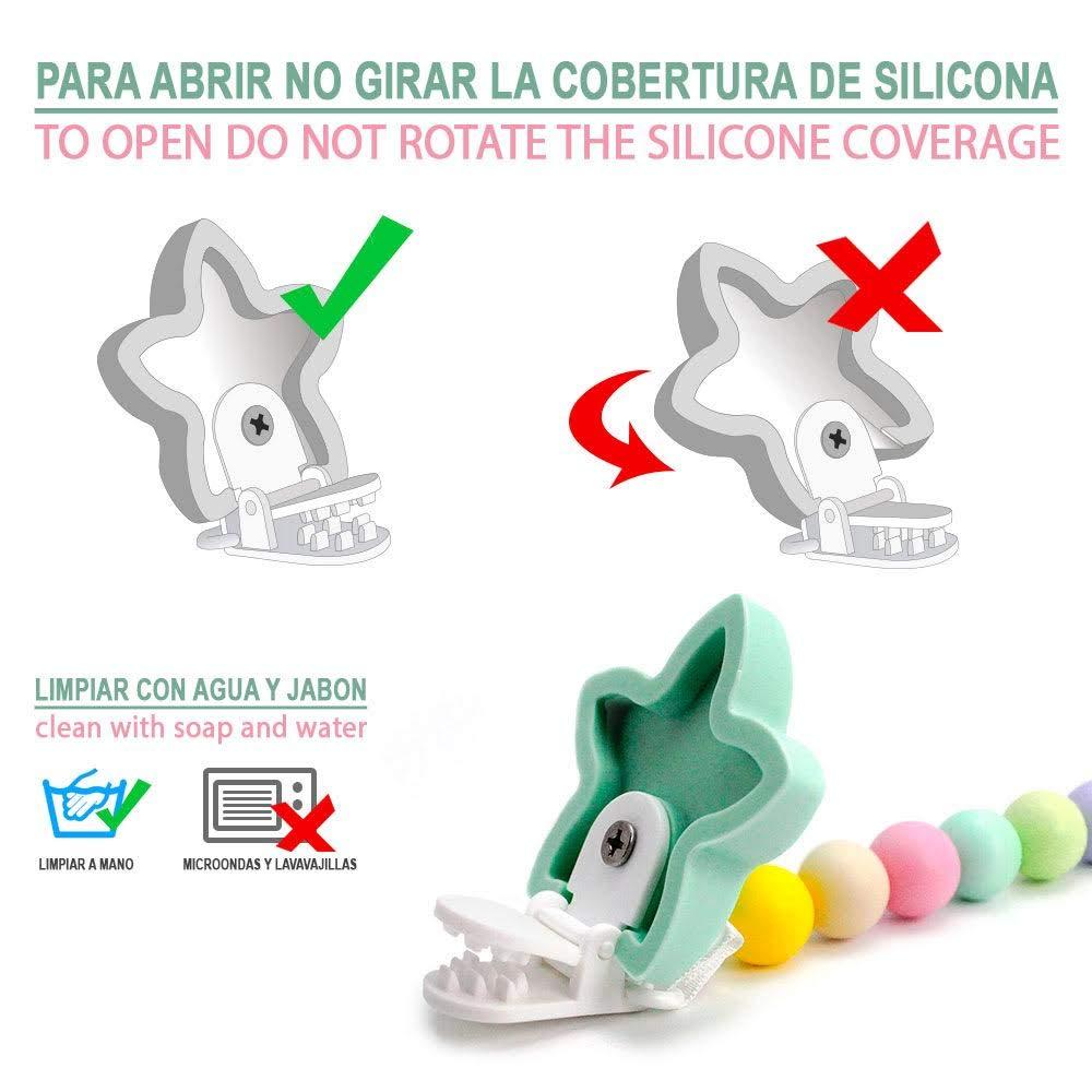 RUBY-Chupetero Estrella Personalizado Para Bebe con Nombre Bola Silicona Antibacteria | 2º unid al 15% de desc.(Amarillo)