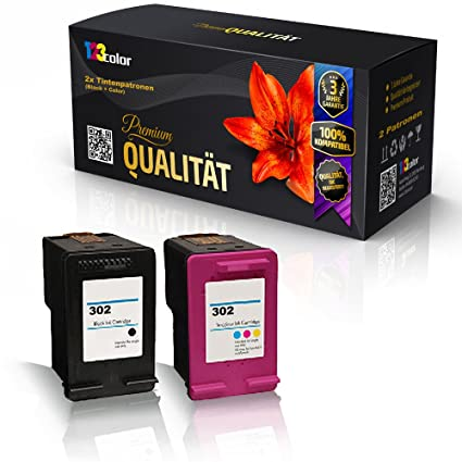 2 x alternativa Cartuchos de Tinta para HP Officejet 4650 Officejet 4654 – Pack de ahorro – Color Edition Serie HP f6u68 a 302 XL HP f6u67ae 302 XL