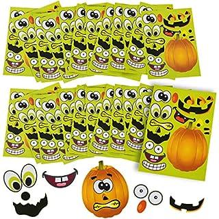 Halloween Stickers - 24 Sheets Kids Jack O' Lantern Pumpkin Stickers Tigerdoe