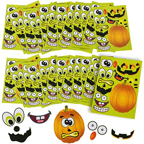 Halloween Stickers - 24 Sheets Kids Jack O' Lantern Pumpkin Stickers Tigerdoe ()