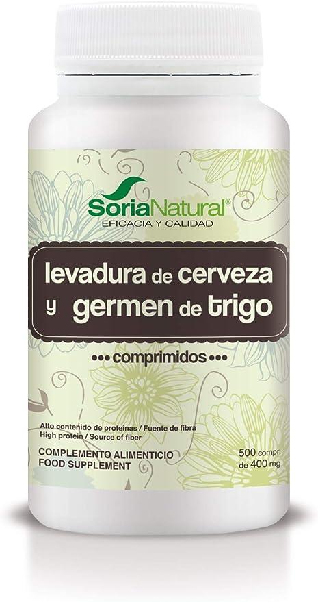 Soria Natural Levadura de Cerveza y Germen de Trigo 500 Comprimidos de 400 mg