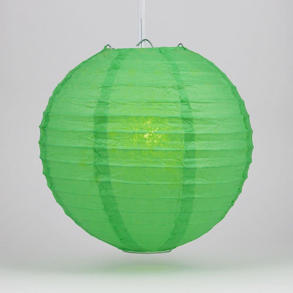 球体ペーパーランタン うね織り模様 ぶらさげるのに(電球は別売り) 20 Inch 20EVP-DGN 1 B00EDBU1FG 20 Inch|エメラルドグリーン エメラルドグリーン 20 Inch