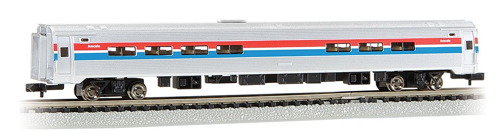 Bachmann Industries Inc. Amtrak Budd Passenger Car 85' Amfleet I Phase II Amtrak Cafe (Lighted Interior) - N Scale 14160
