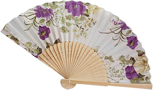 Foldable Chinese Folding Bamboo Hand Held Pocket Hollow Fan Dancing Summer