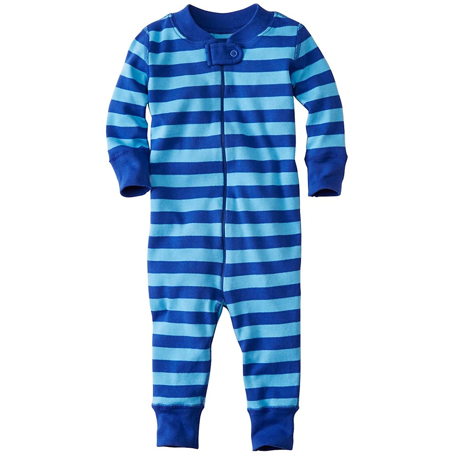 Hanna Andersson Baby Night Night Baby Sleepers In Pure Organic Cotton, Size 75 (9-18 Months), Blue Sea/Map Blue