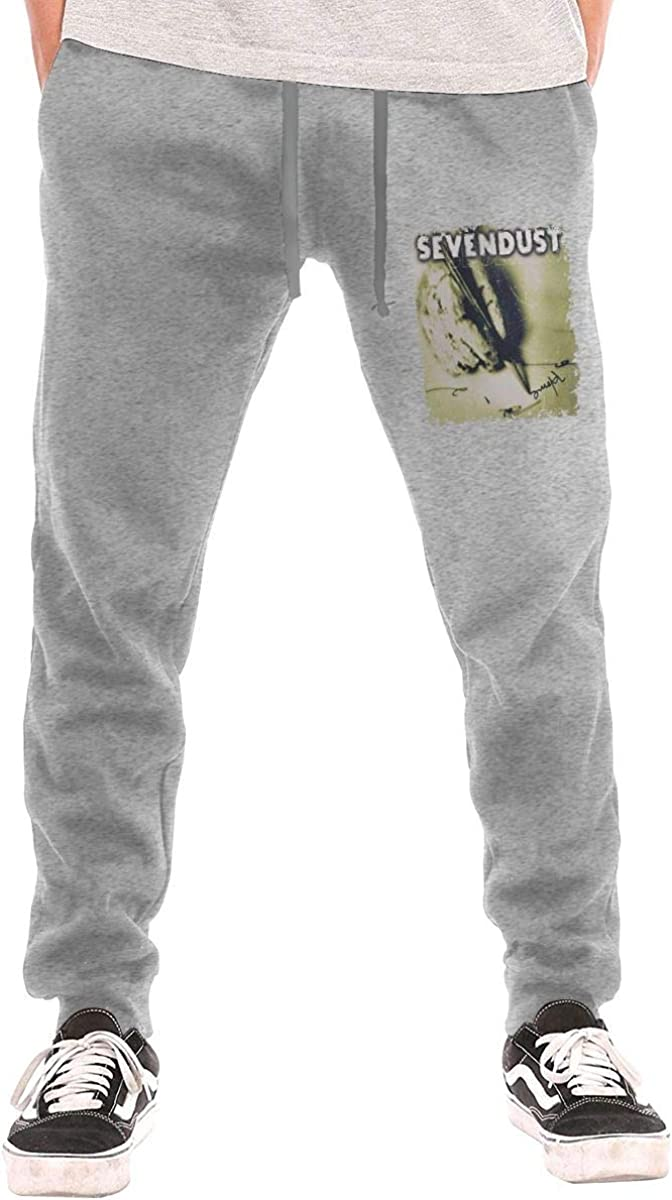 Lemonationob Sevendust Home Men Sports Pants Drawstring Waist Pants with Pockets Autumn and Winter Track Trousers
