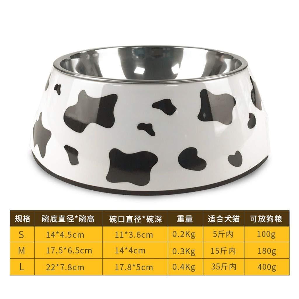 Cuenco De Arroz Grande Recipiente Perro Gato Mascota Pot Tazón De Acero Inoxidable Grano Vaca