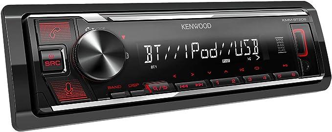 Kenwood KMM-BT206 - Radio de Coche con USB y Manos Libres (sintonizador de Alto Rendimiento, procesador de Sonido, USB, AUX, Control de Spotify, 4 x ...