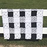 Be Brave, Little One baby quilt black and white and one odd zebra
