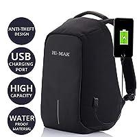 Techhark Multi Functional Anti Theft Laptop Bag Laptop Backpack (Black)