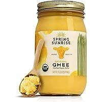 Ghee Organic Grass Fed - Ghee Butter - Organic Ghee - Ghee Oil - Grass Fed Ghee - Organic Butter - Grass Fed Butter - Ghee Butter Organic Grass Fed - Keto Butter - SPRING SUNRISE 8oz