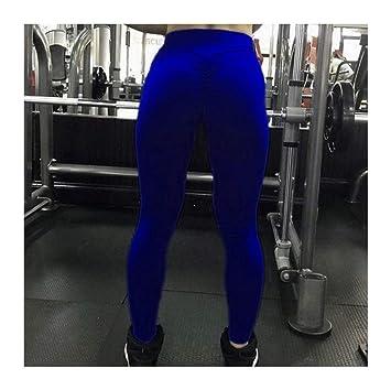 DOUPJ Las Mujeres Usan Pantalones De Yoga De Base Sólida De ...