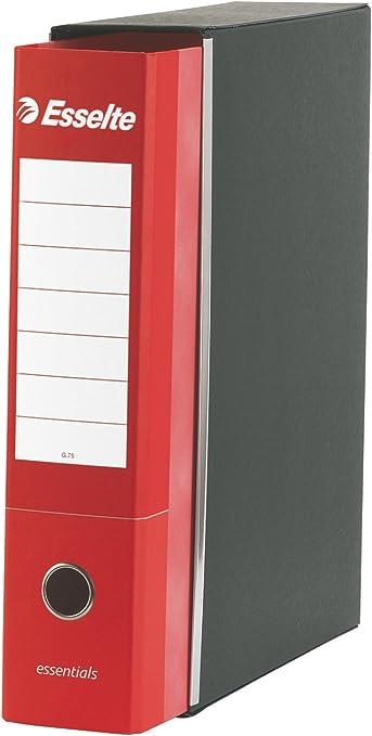 Formato Protocollo Dorso 8 cm per Raccoglitore Cartone Esselte 390775160 Raccogliotre Essentials Rosso Confezione da 6pz