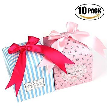 emango cajas de regalo, 10 unidades, 2 cajas de color decorativa para dulces,