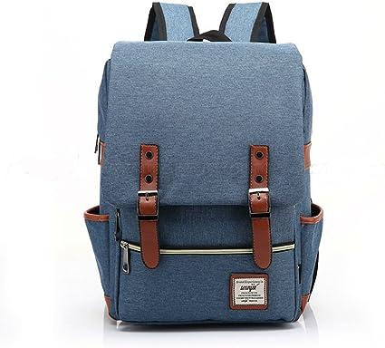 Girl Women Men  Leather Travel Backpack Satchel Rucksack Laptop School Bag