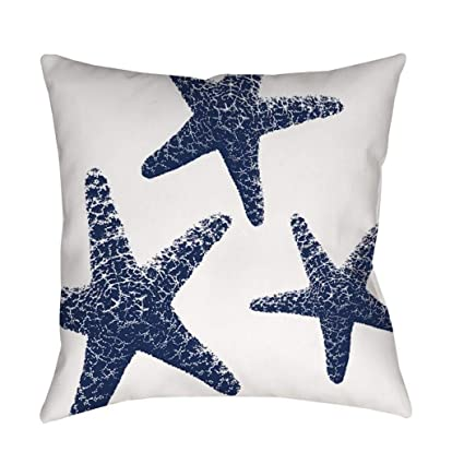1 pieza 26 x 26 blanco azul estrella de mar tema manta ...