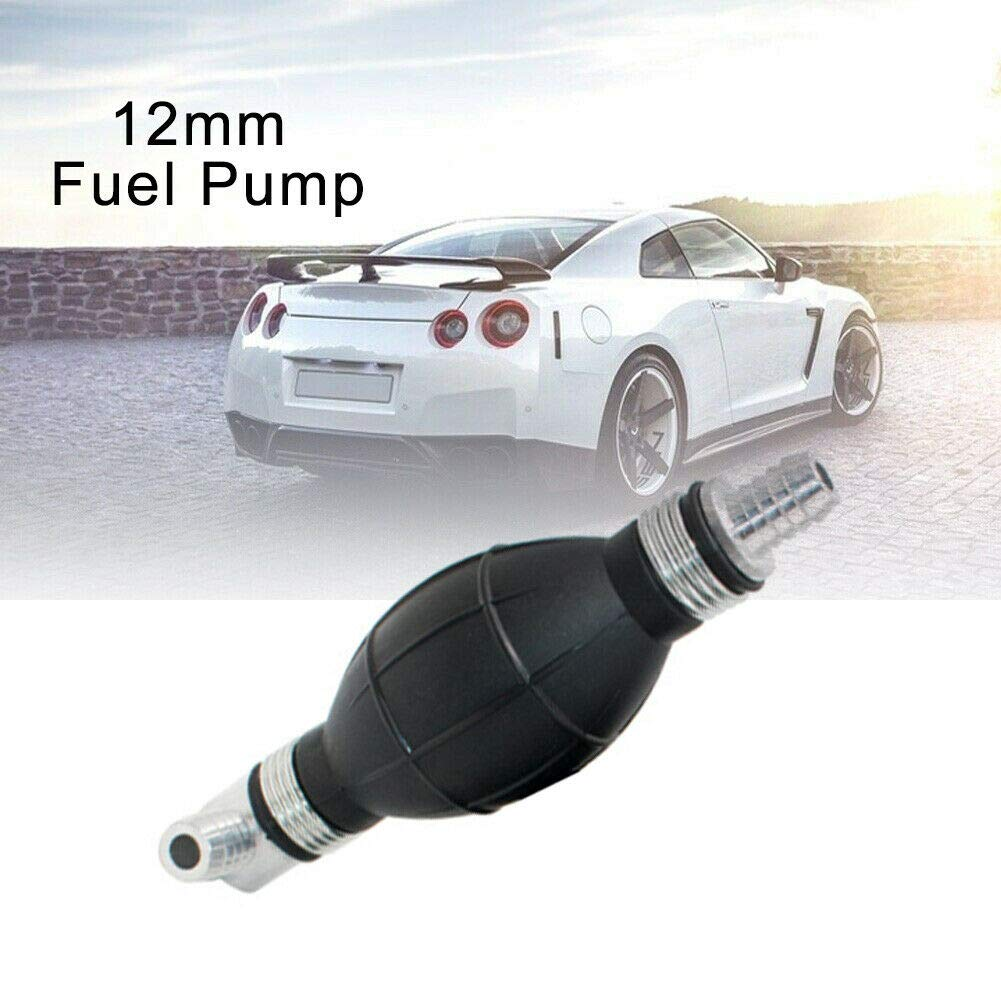 MASO 1Pcs Fuel Pump 8mm Elbow Fuel Assembly Single-head Curved Fuel Pump Rubber+Aluminum Alloy Hand Primer Bulb Type Boat Fuel Diesel Pump For Car RV Boat motorcycle Marine Outboard