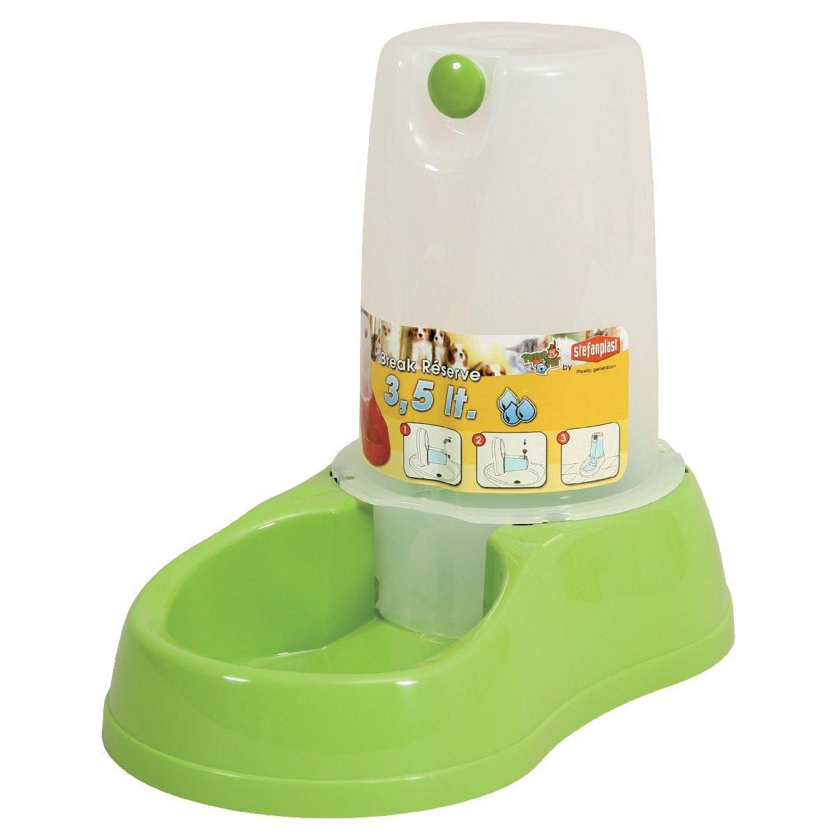 Stefanplast 4-04157 Tolva Agua, 1.5 l, Color Verde: Amazon.es: Productos para mascotas