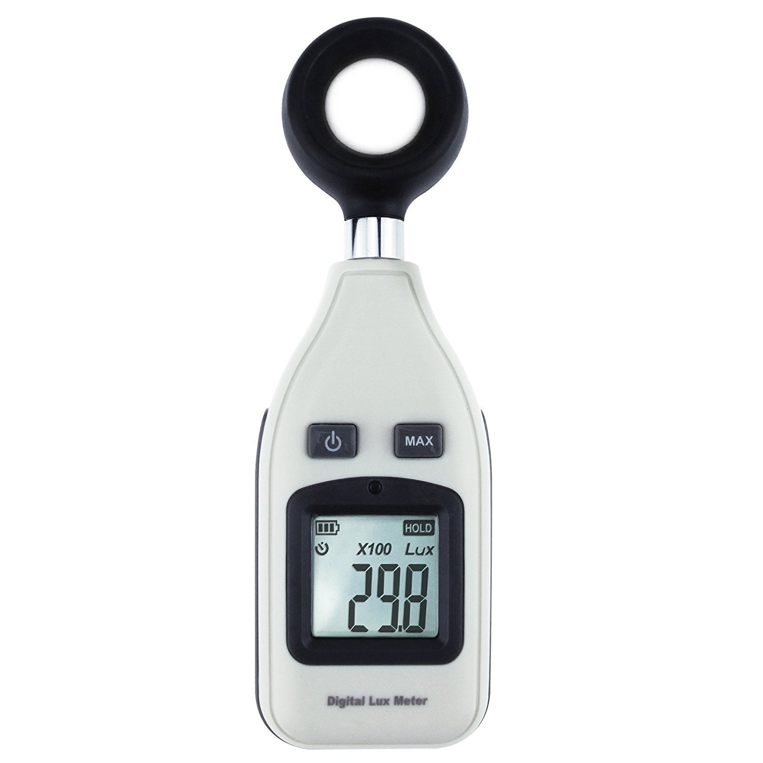 Digital Mini Portable Light Meter Lux Meter Illuminance (Measurement Range 0 to 200,000 LUX/ 0 to 18500 FC) with Backlight Max Min
