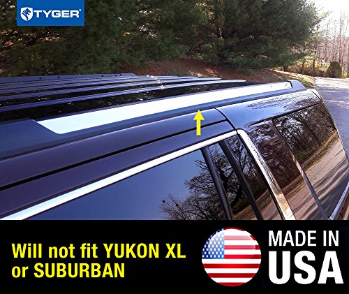 Tahoe Chrome Trim - R2119 Made in USA! Works with 2015-2019 Chevy Tahoe GMC Yukon Roof Rack Body Molding Trim 2PC