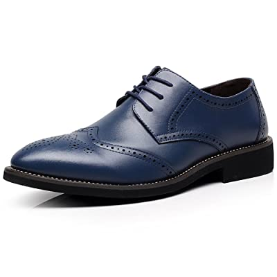 Amazon.com | ANUFER Mens Boys British Style Wingtip Brogue Dress Shoes Elegant Pointed-Toe Derbies/Oxfords | Oxfords