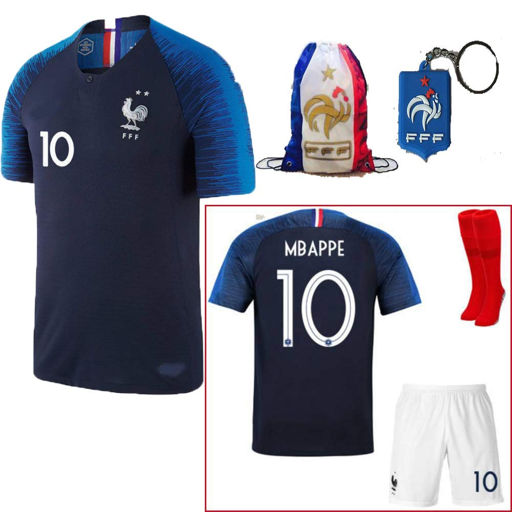 France Soccer Team Pogba Griezmann Mbappe Kid Youth Replica Jersey ... a21a6f378