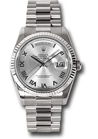 Amazon.com Rolex Oyster Perpetual Day,Date 36MM 18K White
