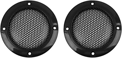 X AUTOHAUX 2pcs Grill Cover 6.5 Inch Mesh/Protector Car Speaker Cover Woofer Subwoofer Grill Gray