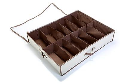 Amazoncom Smart Design Underbed 12 Compartment Shoe Organizer W
