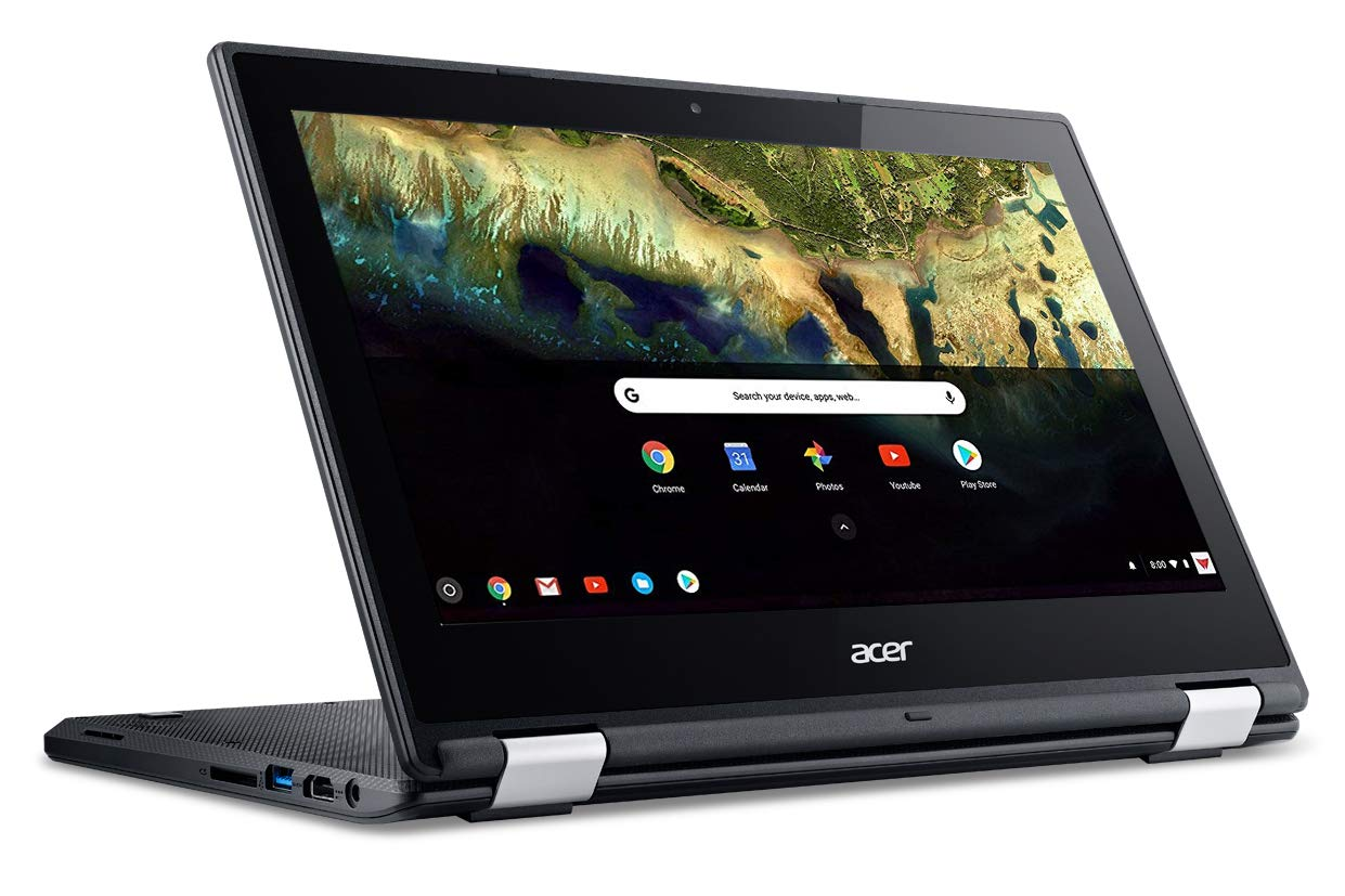 Acer Chromebook R 11 Convertible Laptop, Celeron N3060, 11.6'' HD Touch, 4GB DDR3L, 32GB eMMC, C738T-C7KD by Acer