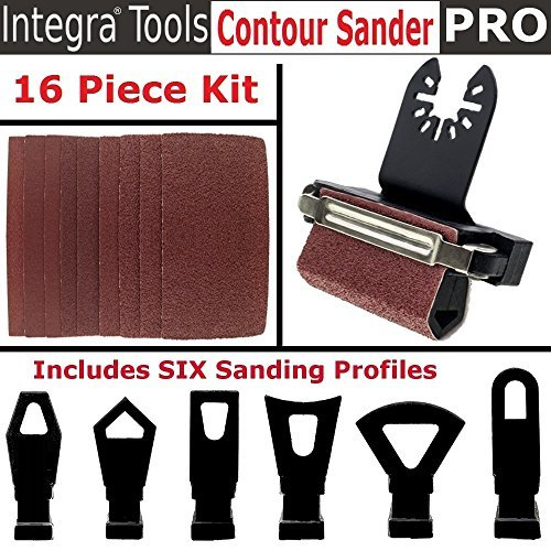 INTEGRA Tools Multitool Contour Sanding Accessory Set with 6 Unique Profile Shapes