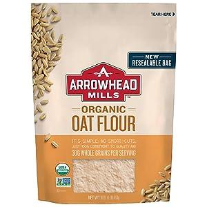 Arrowhead Mills Organic Oat Flour, 16 Ounce Bag (Pack of 6)