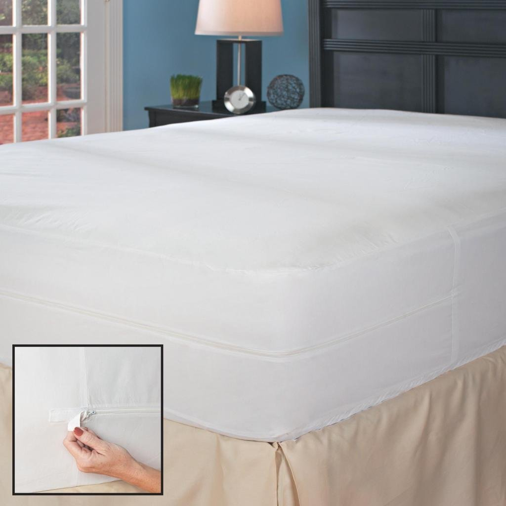 Full XL Hypoallergenic Bed Bug Mattress Cover with Auto-Locking Micro-Zipper Enclosure