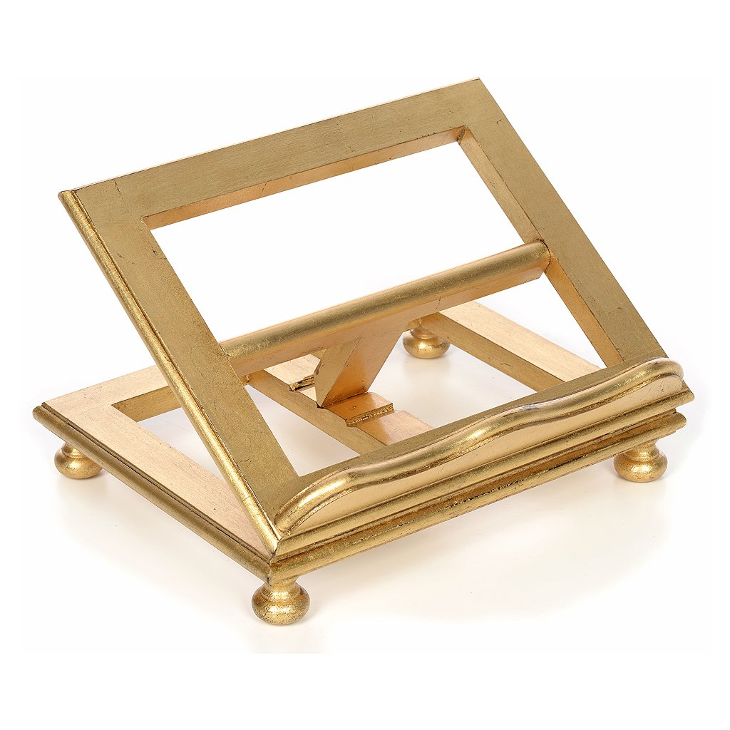 Holyart Book stand in beech wood with gold leaf