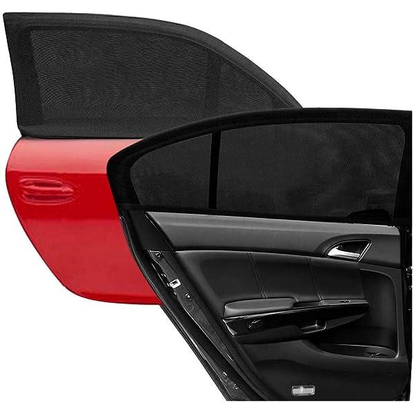 Black Plain SUV Car Window UV Mesh Sun Shades Blind Kids Baby Sunshade 50*60cm