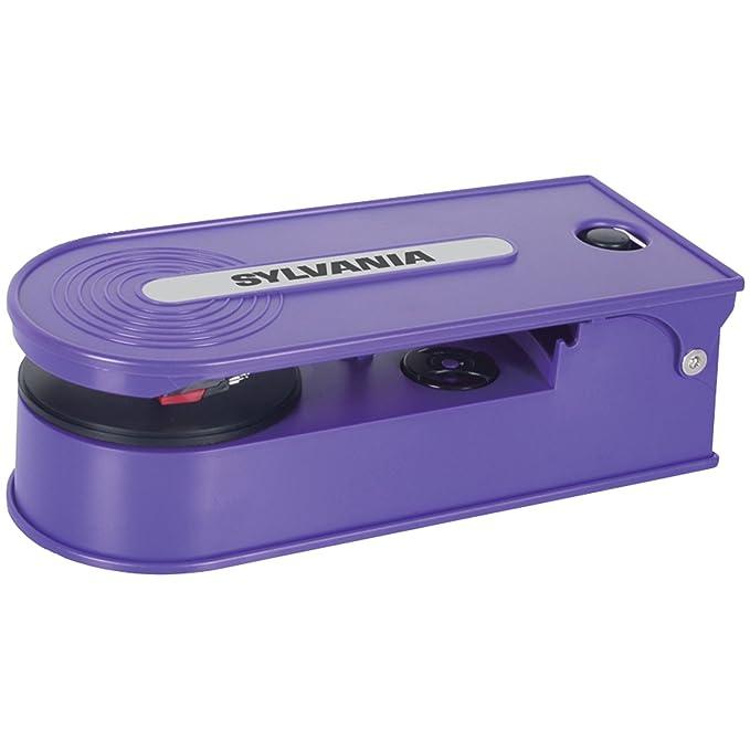 Sylvania Turntable Record Player with USB Encoding, Purple